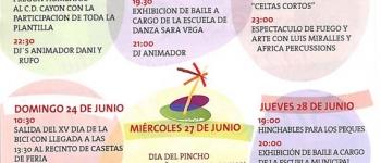 Programa Fiestas del Socorro, Sarón 2012