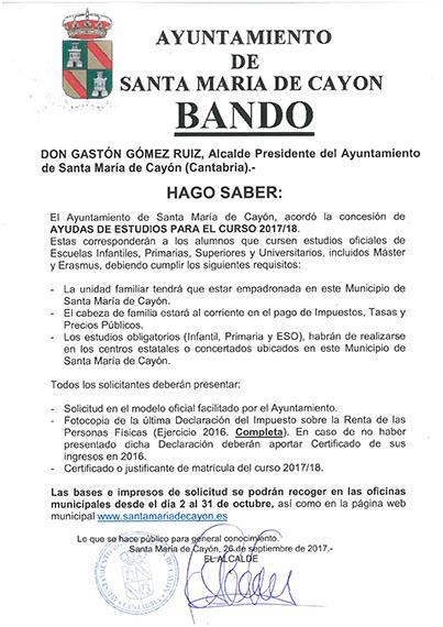 El Ayuntamiento De Santa Maria De Cayon Ha Acordado La Concesion De